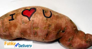 I Love You Potato Gram from Funky Delivery