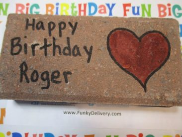 Happy Birthday Brick in the Mail to Roger