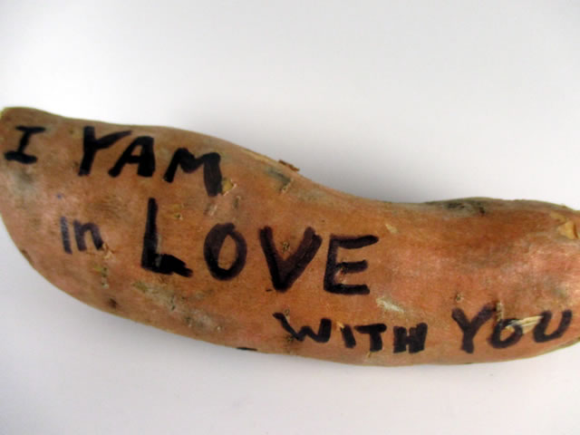 I Yam in Love with You - Sweet Potato Gram