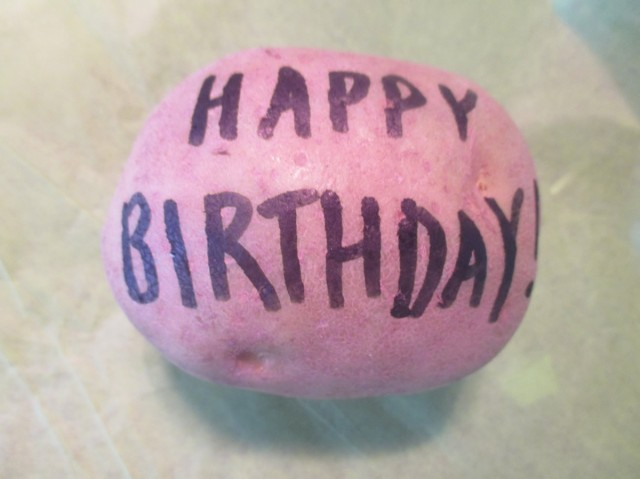 Happy Birthday Potato