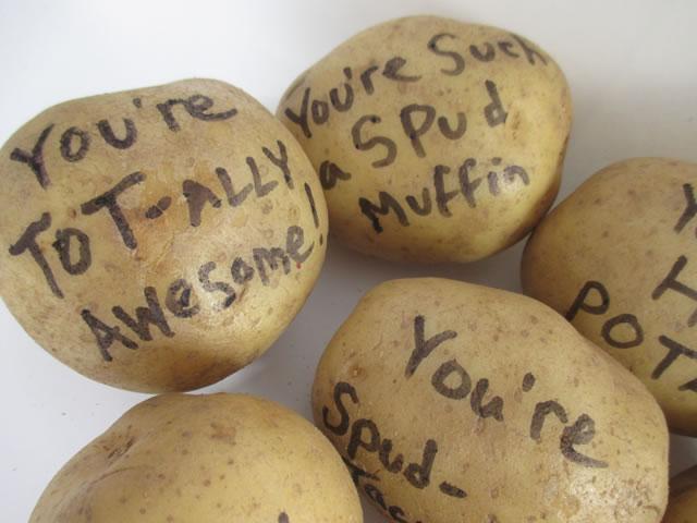Valentine's Day Potato Bouquet