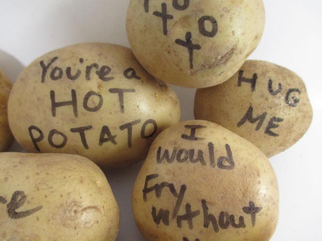 St Patrick's Day Potato Bouquet