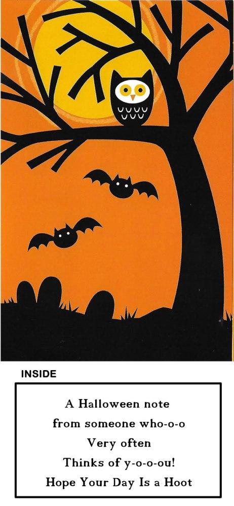 Halloween Owls Glitter Bomb Card