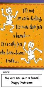Halloween Skeletons Glitter Bomb Card