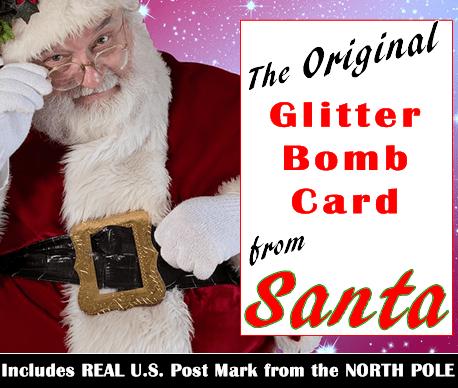 Christmas Card from Santa - North Pole Glitter Bomb