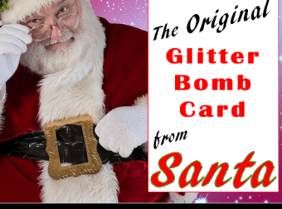 Christmas Card from Santa - North Pole Glitter Bomb