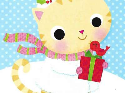 It's Christmas Granddaughter - Christmas Cat Card