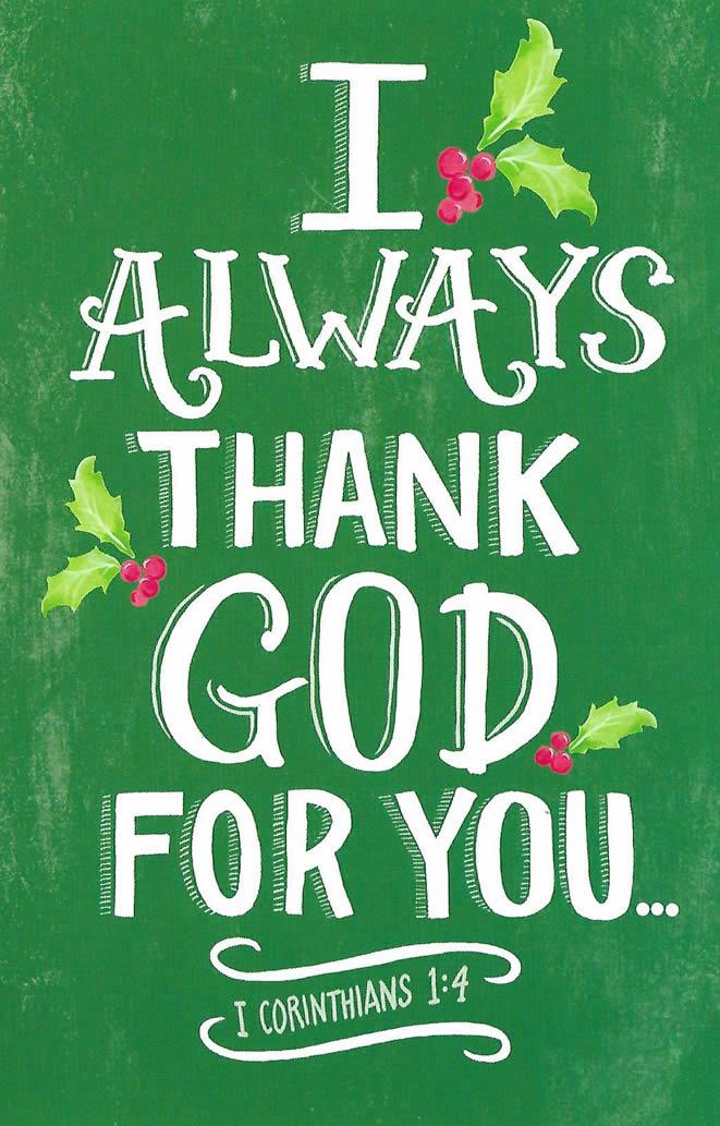 I Always Thank God For You Custom Christmas Card