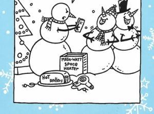 Snowman Gag Gifts - Very Funny -Christmas Card for Friend