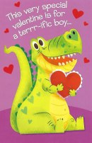 Valentine's Day Card for a Boy - Dinosaur Valentine Card