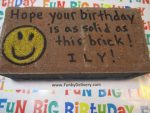 Happy Face Emoji Brick in the Mail