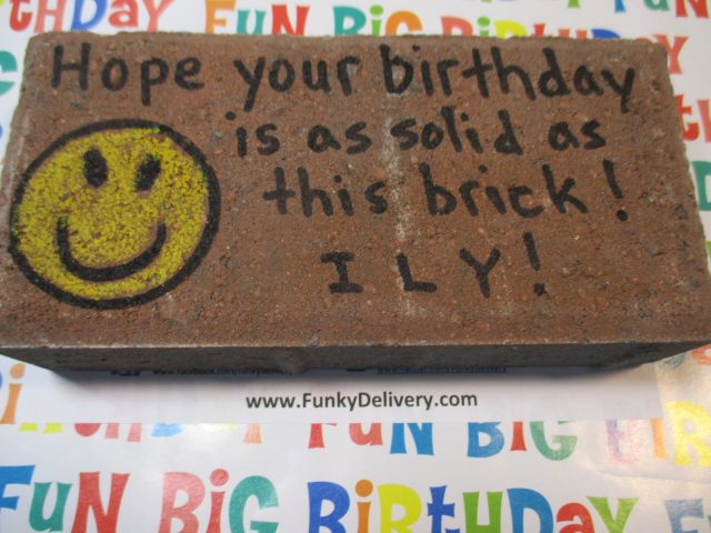 Happy Face Emoji Brick in the Mail