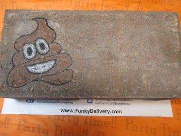 Poop Emoji Brick - Send a Poop Emoji Brick
