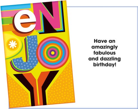 Enjoy a Fabulous and Dazzling Birthday Card