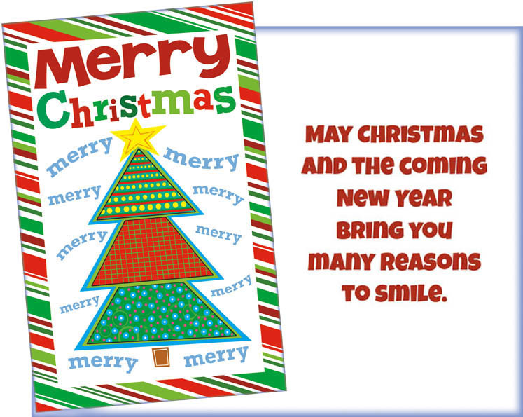 Bright, Colorful Christmas Tree Card