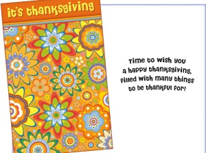Thanksgiving Confetti Card - Fun Card for Autumn