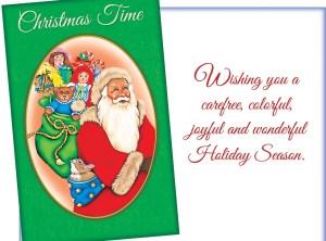 Christmas Time – Santa Sends Holiday Wishes Card