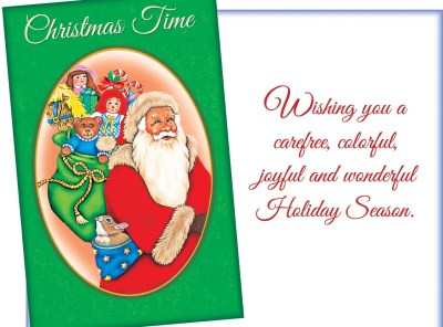 Christmas Time – Santa Sends Holiday Wishes Card