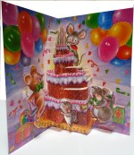 Happy Birthday Pop Up Card Inside View