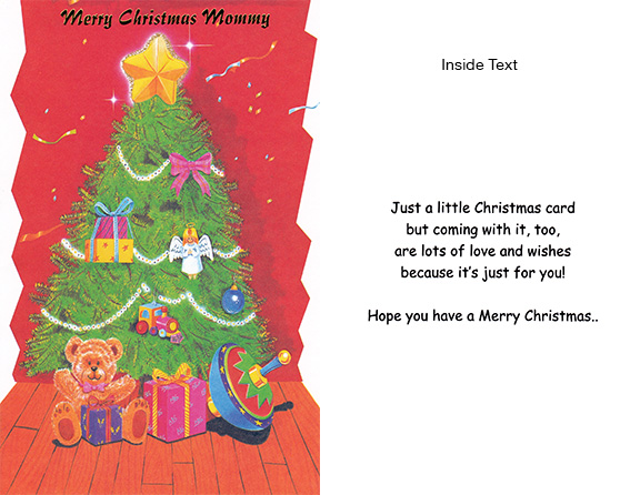Merry Christmas Mommy - Personalized Card