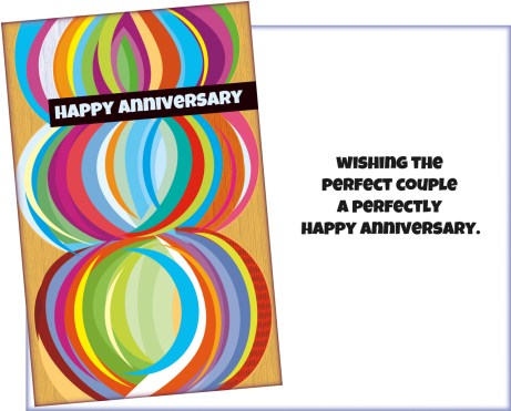 Happy Anniversary Card to a Perfect Couple