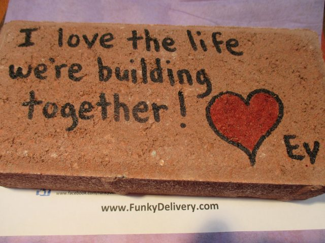 Love the life we're building brick - - Funky Delivery