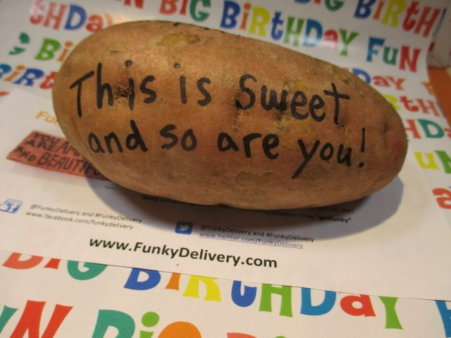 This is sweet and so are you potato - Funky Delivery Potato