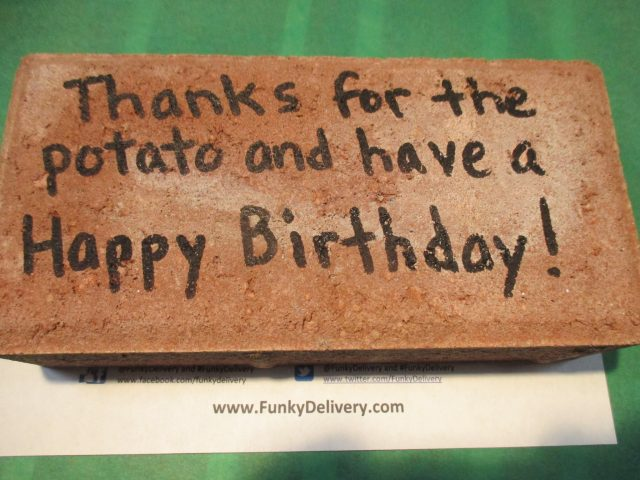 Thank You Brick - Funky Delivery Brick