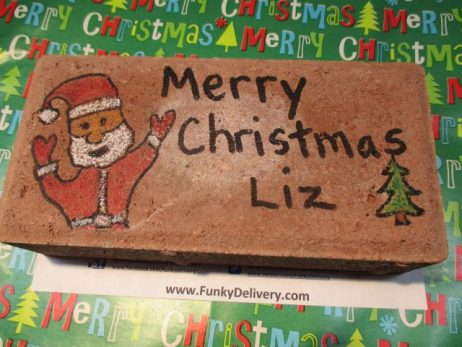 Merry Christmas Brick - Funky Delivery Brick