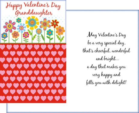 Happy Valentine's Day Granddaughter - A very special day, that's cheerful, wonderful and bright...
