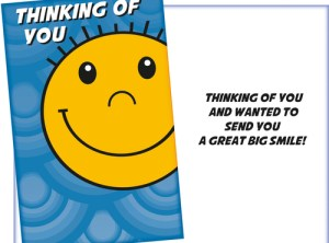 Thinking of You - Big Smile Card - Fun Emoji Style Card