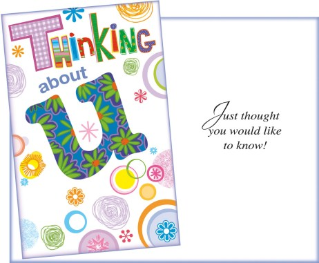Thinking of U - Thought You Would Like to Know - Fun Card Sent for You