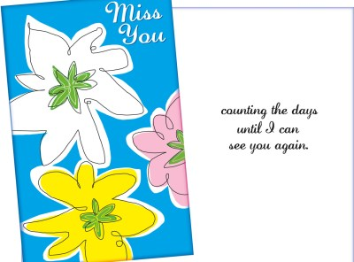 Miss You Card for Sweetheart or Loved One - Sent for You