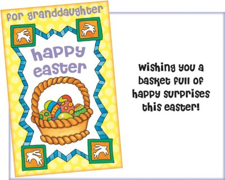 Easter Card for Granddaughter - Basket Full of Happiness