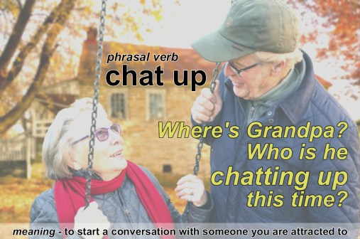 chat up phrasal verb