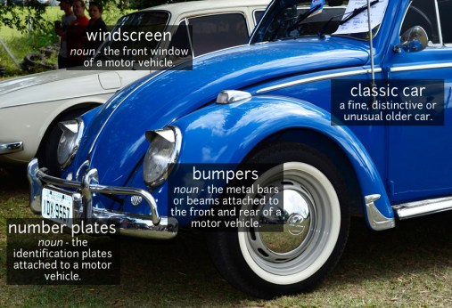 classic car vocabulary