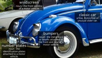 classic car vocabulary