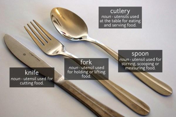Cutlery Vocabulary