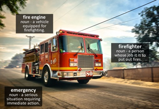 fire engine vocabulary