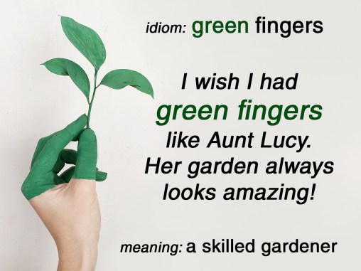 green fingers idiom