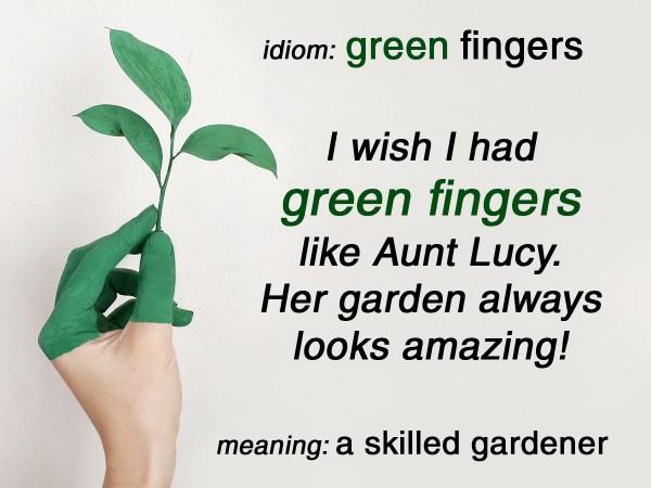 green fingers idiom