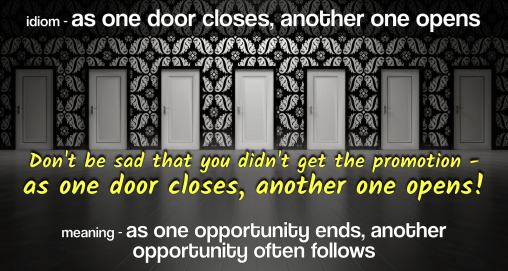 idiom-as-one-door-opens