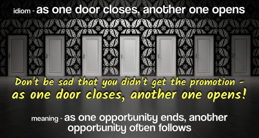 idiom-as-one-door-opens