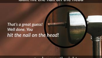 idiom nail on the head