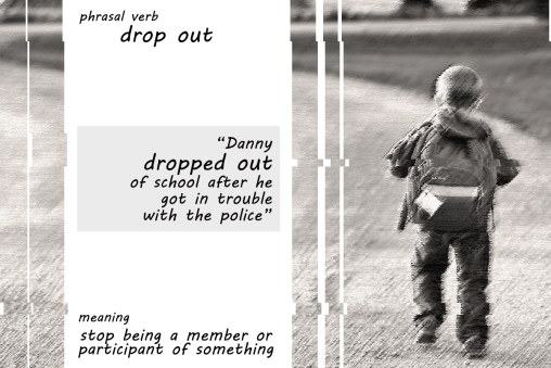 phrasal verb drop out