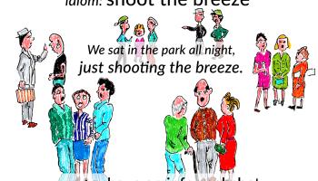 shoot the breeze idiom