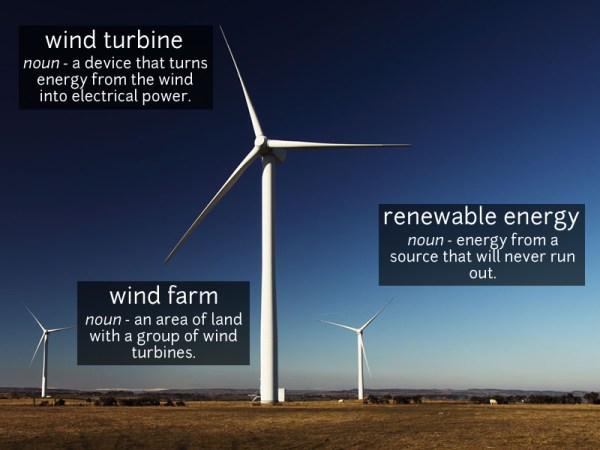 wind turbine vocabulary