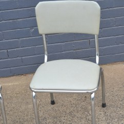 Mid Century Modern Kitchen Chairs White Storage Cabinet Retro Vintage 2 X Grey Chrome