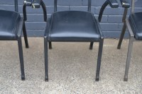 Vintage Mid century 5 x black dining / kitchen chairs ...