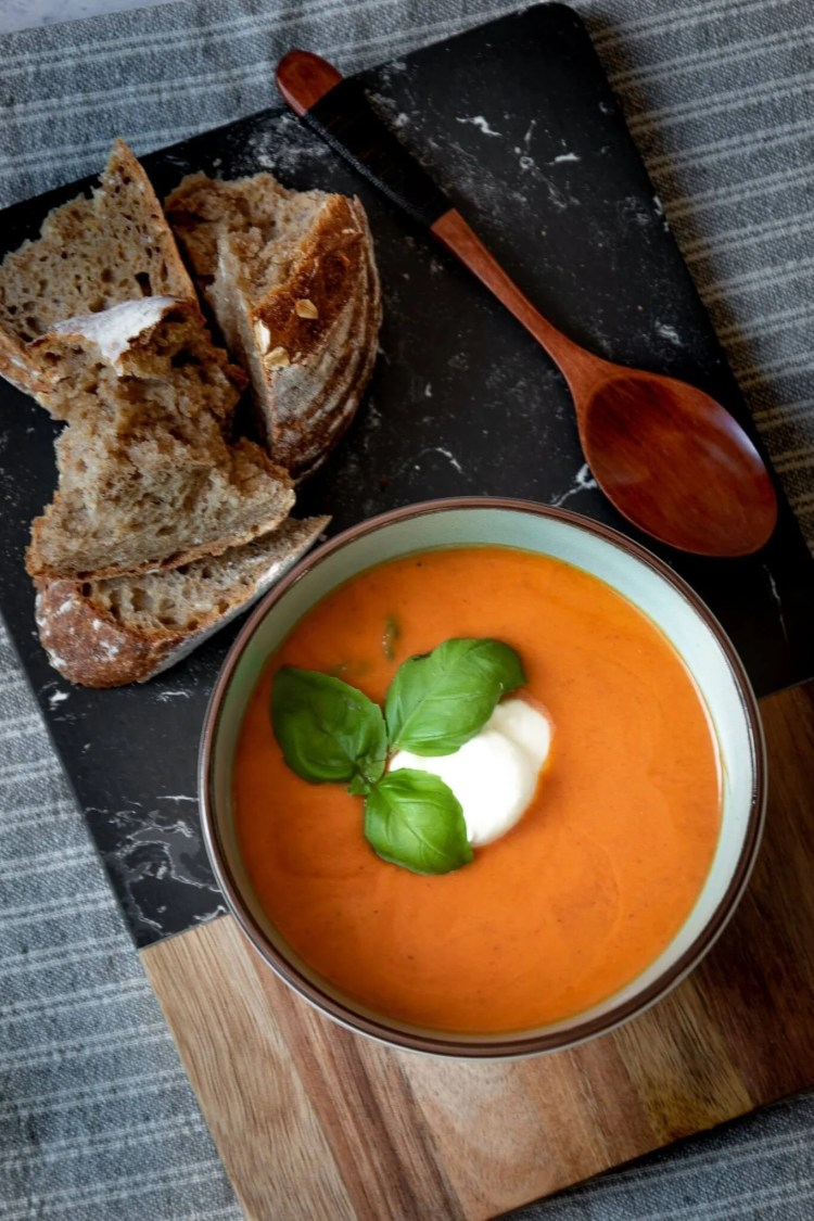 Tomatensoep met chorizo